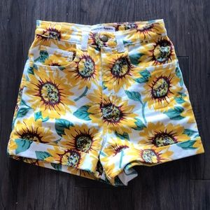 American Apparel High Waist Cuff Shorts